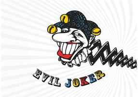 Vector Cartoon Evil Joker