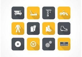 Gratis Flat Construction Vector Pictogrammen