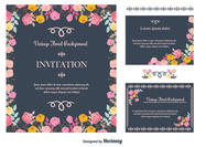 Floral Invitation Background