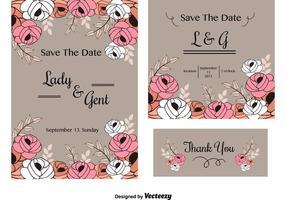 Tarjetas de la invitación de la boda