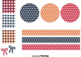 Polka Dot and Gingham Patterns  vector