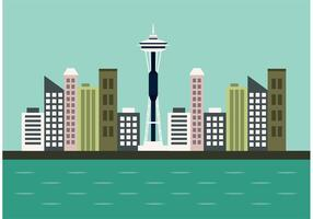 Seattle Horizon Vector
