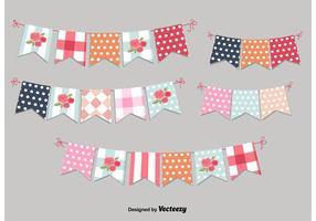 Festive Vintage Garlands vector