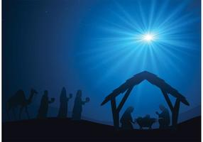 Manger Scene Vector Background