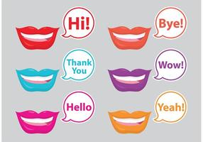 Mouths And Bubbles vector