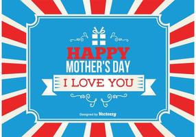 Glad mors dag bakgrund