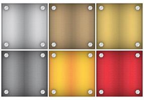 Square Metal Backgrounds vector