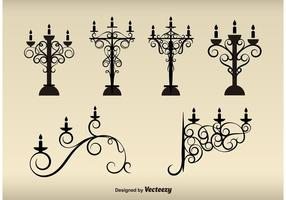 Vintage Lamps Silhouettes
