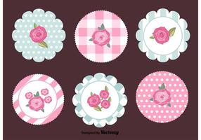 Shabby Chic Retro Tags vector