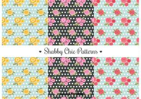 Shabby Chic Patterns vector
