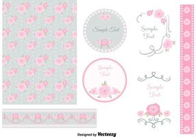 Shabby Chic Design Elements vector