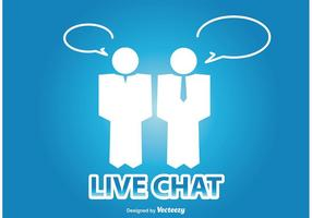Live Chat Illustratie