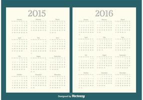 2015/2016 Calendriers