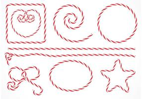 Free Vector Isolated Candy Stripe Rope Set