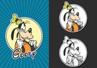 Free Vector Goofy Disney Portrait