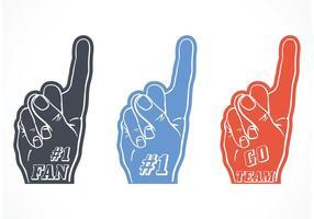 Free Vector #1 Foam Finger Set