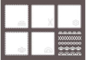 Gratis Square Doily Vector Set