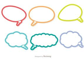 Färgglada Outline Live Chat Ikoner Vector Pack