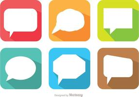 Lange schaduw speech bubble vector pack