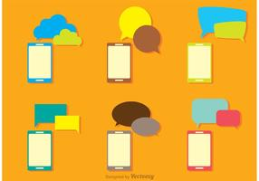 Burbuja del discurso y paquete del teléfono Vector
