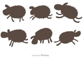 Ensemble vecteur Silhouette des moutons