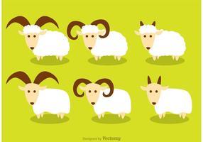 Gehoornde schapenvectoren