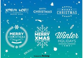 Christmas Type Signs vector