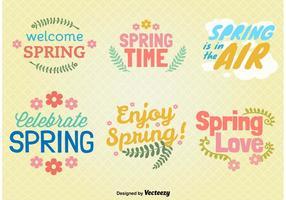 Frühling Typografische Ornamente