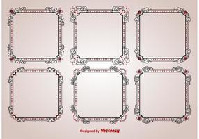 Valentijns Ornamenten Frame Vectoren