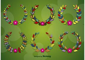 Spring and Flower Wreaths vector