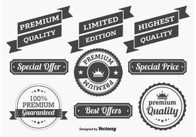 Étiquettes de qualité promotionnelle