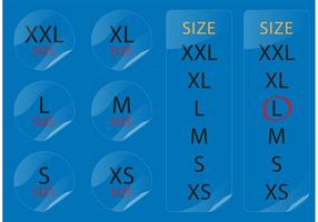 Measurement Stickers vector