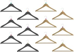 Coat Hanger Vectors with Sizes