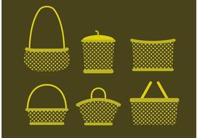 Vetores de cesta antiga