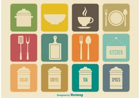 Retro Kitchen Element Icons
