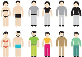 Colorful Stick Figure Vectors