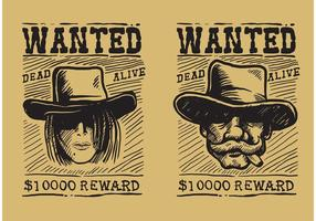 Vector-wanted-old-poster