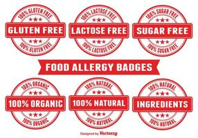 Badges d'allergie alimentaire