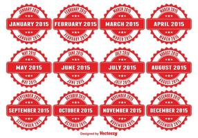 Maanden van het Jaar Badges