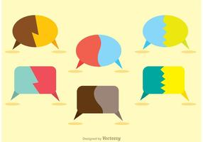 Split Live Chat Iconos Vector Pack