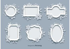 Winter Snow Frames vector