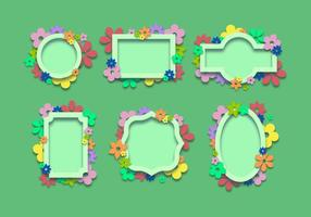 Spring Decorative Frames vector