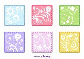 Spring Floral Flat Labels