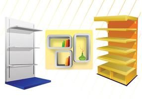 3D Shelves Vectors