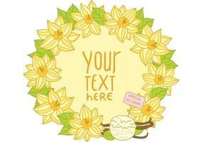 Freier Vanille-Blumen-Rahmen-Vektor