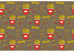 Free Fries mit Sauce Pattern Vector