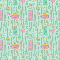Gratis Vintage Kitchen Pattern Vector