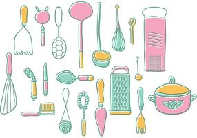 Vintage Kitchen Utensils Vectors