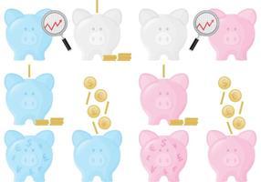 Piggy Bank Vectors