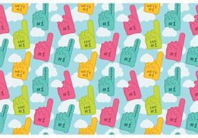 Free #1 foam finger seamless pattern vector